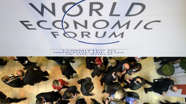 Participants at the World Economic Forum in Davos. (Fabrice Coffrini/AFP/Getty Images)