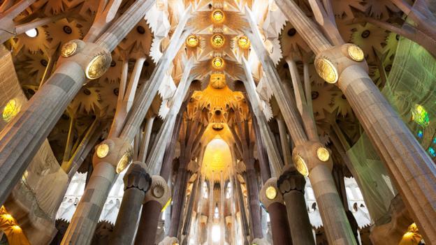Elaborate carvings adorn the massive Sagrada Familia (Credit: Credit: Cristinatrif/iStock)