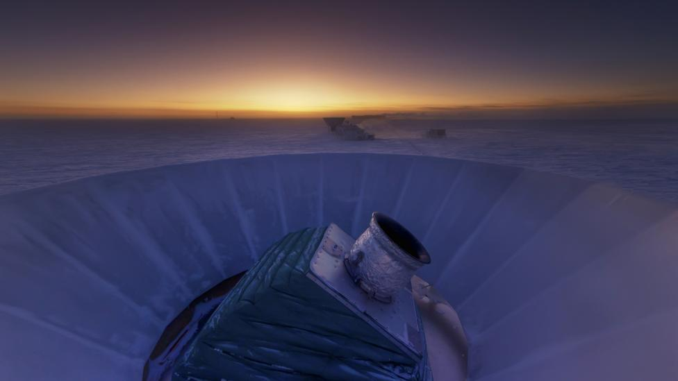 BICEP2 telescope (Credit: NSF/Steffen Richter/Harvard University/Science Photo Library)