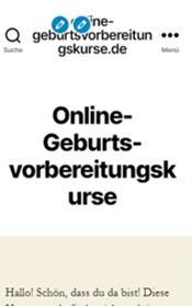 Screenshot mobile Ansicht online-Geburtsvorbereitungskurse