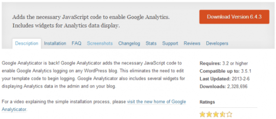 wp google analyticator 1