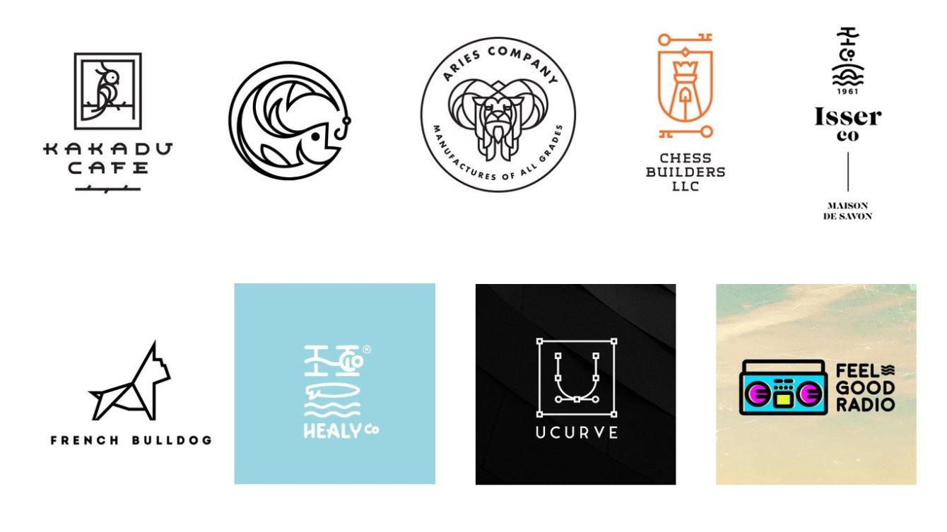 линии в логотипах