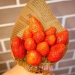 イチゴ探偵 「いちごブーケ」を作ってみた!【とちおとめ】で作った花束でサプライズ!
