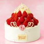 「銀のぶどう」クリスマスケーキ2018『苺の国のプリンセス』ティアラと苺ドレスにうっとり!