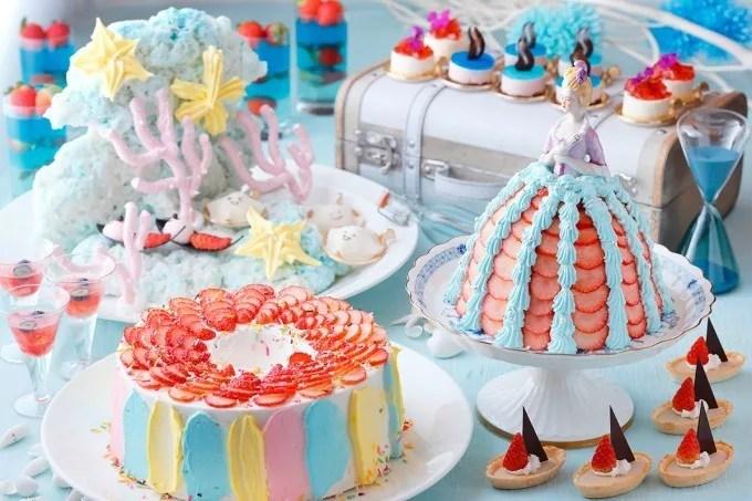 【水族館がテーマのいちごビュッフェ】琵琶湖ホテルで苺の玉手箱!いちご×イタリアンのフードも!