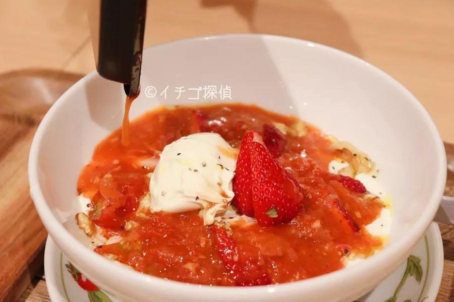 太陽のトマト麺withチーズ 原宿竹下通り店 太陽のストロベリーチーズラーメン いちご