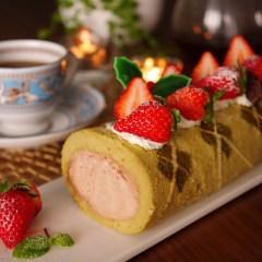 アーガイル柄のロールケーキ