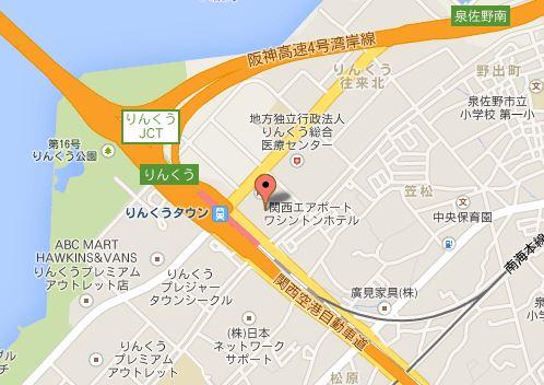 NPC24Hりんくうタウン第3パーキングの地図