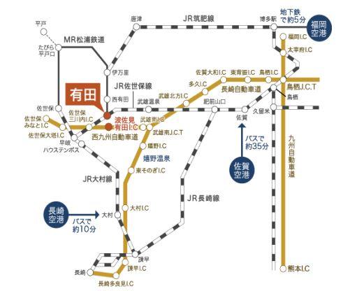有田陶器市への車のアクセス地図