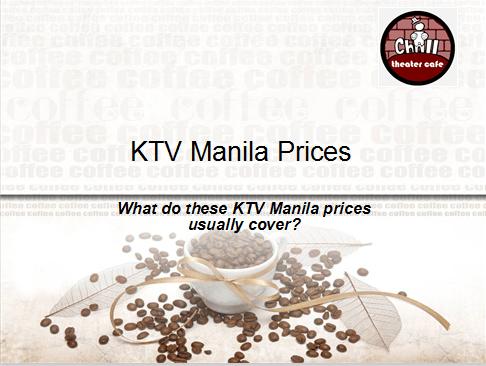 KTV Manila Prices