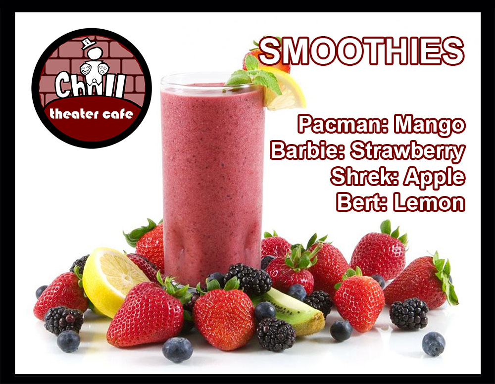 smoothies-menu iChill Theater Cafe