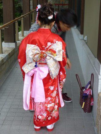 Little girl in a kimono