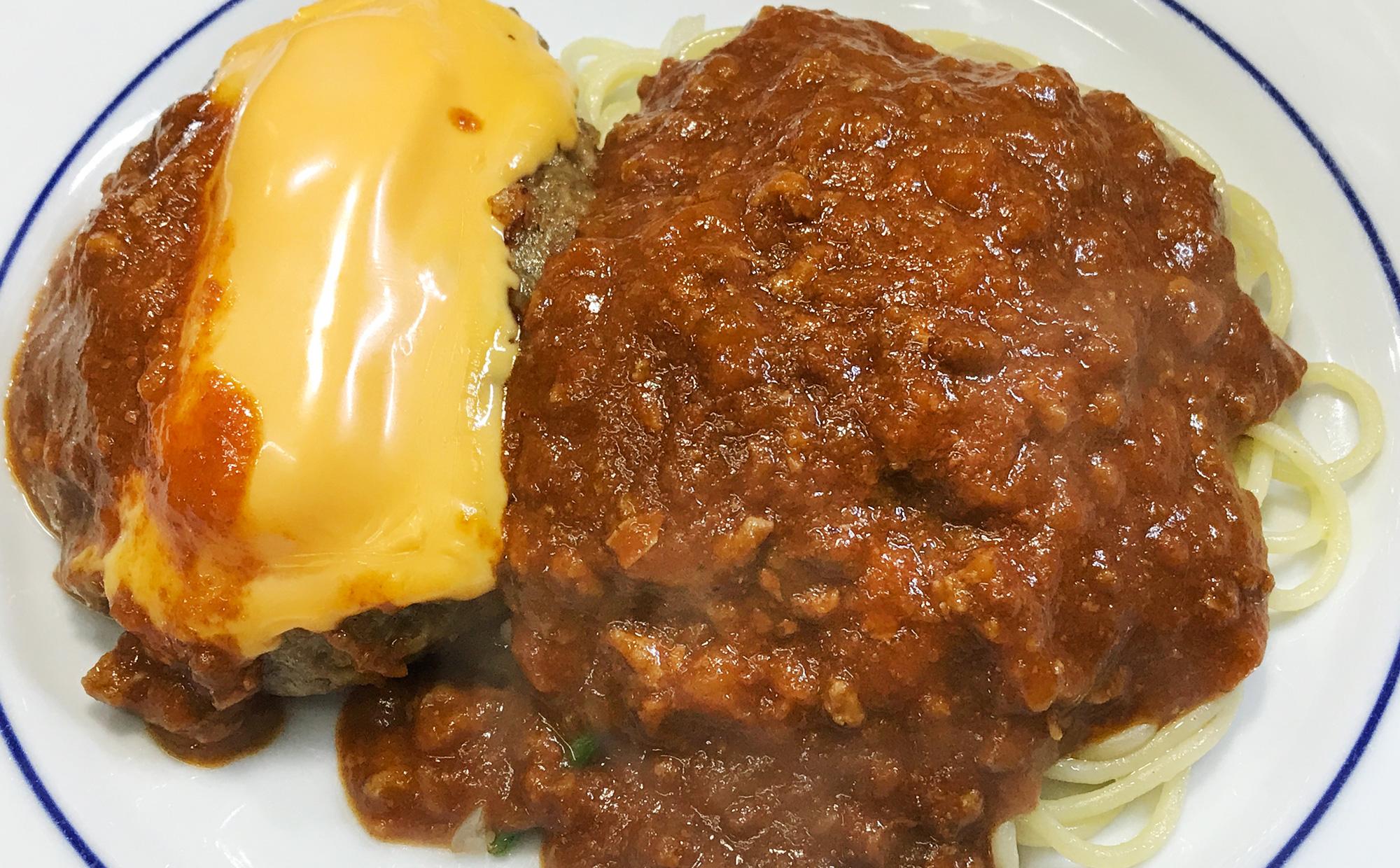 チーズハンバーグ+ミートソース 他2品