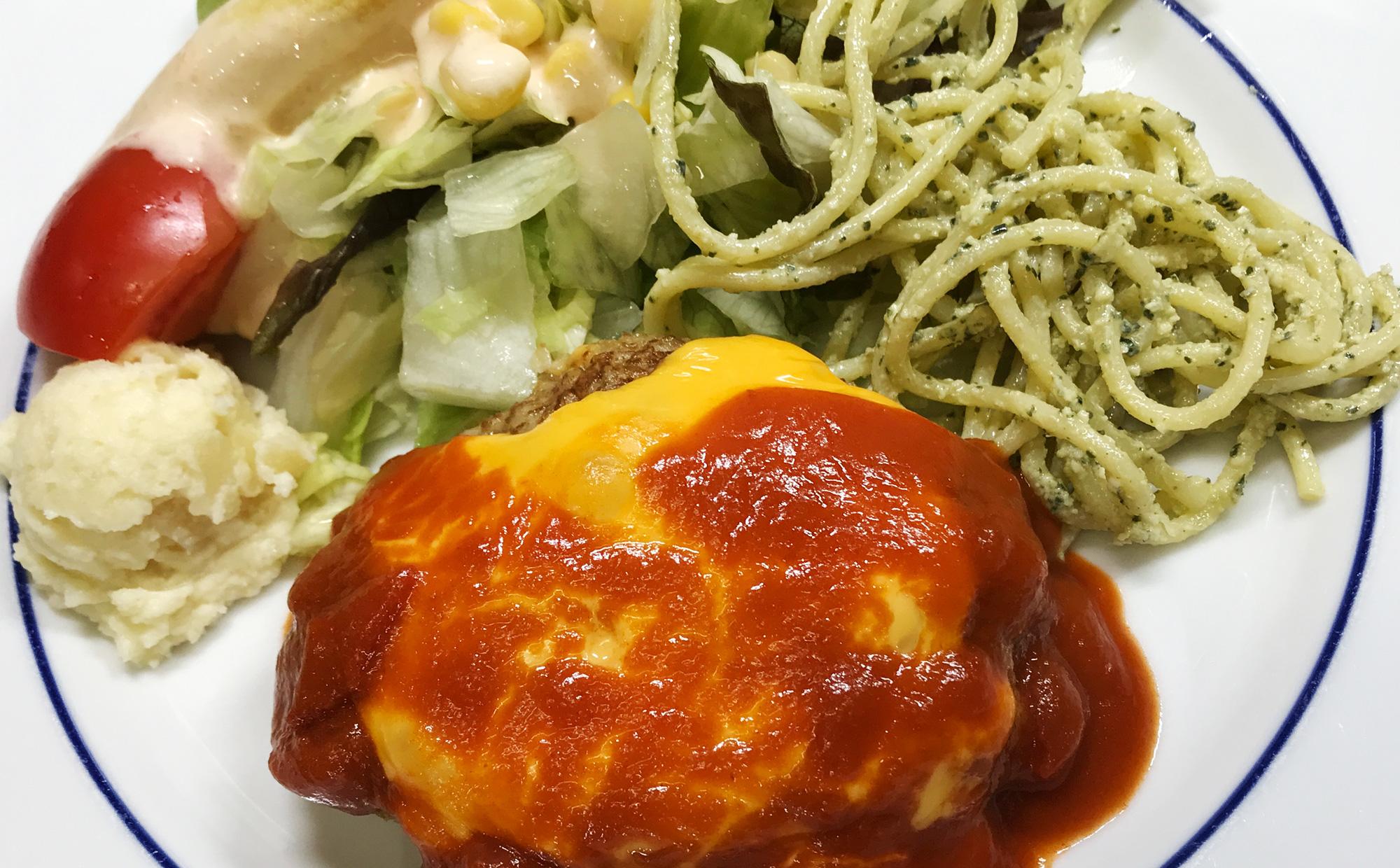 チーズハンバーグ トマトソース