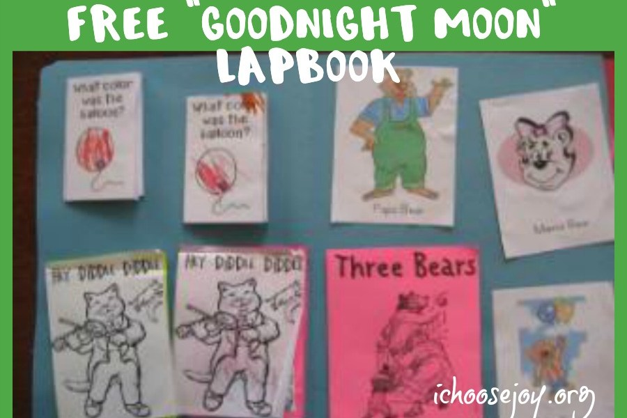Free Goodnight Moon lapbook #lapbook #goodnightmoon #homeschool #ichoosejoyblog