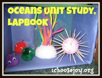 Oceans unit study and lapbook