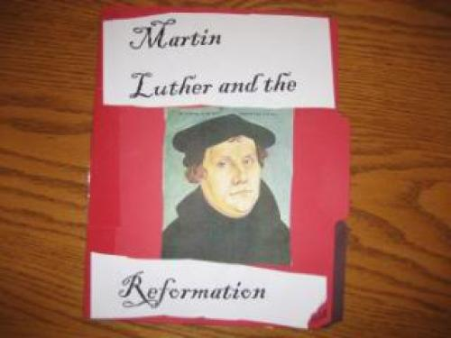 Martin Luther and the Reformation Lapbook cover