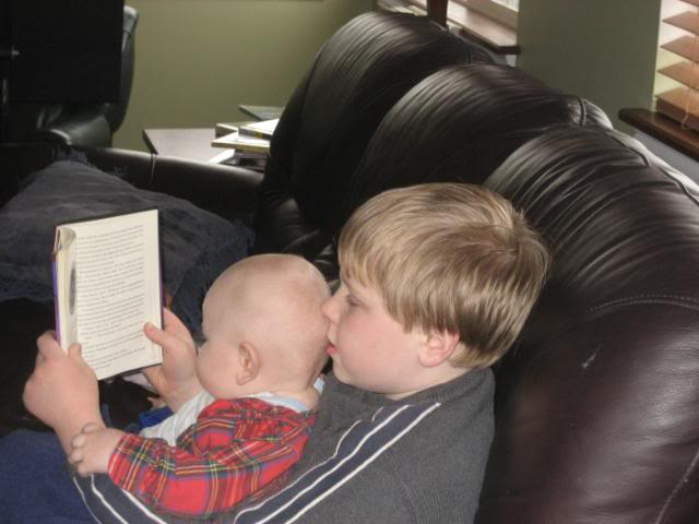Reading aloud to baby, homeschool read-aloud time