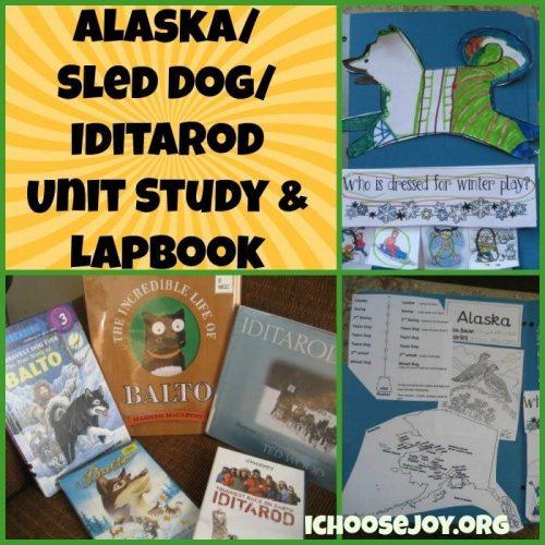 Alaska Iditarod Unit Study Lapbook