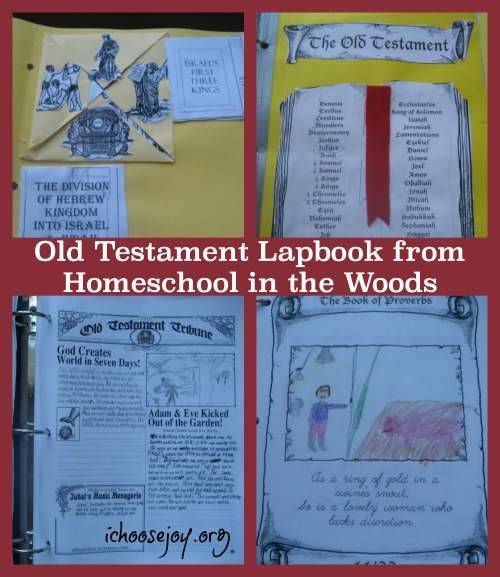 Old Testament Lapbook from Homeschool in the Woods. A fun way we supplemented our history studies in our homeschool with a lapbook, newspaper articles, and illustrating the Proverbs.