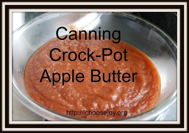 Crock Pot Apple Butter Canning Tutorial