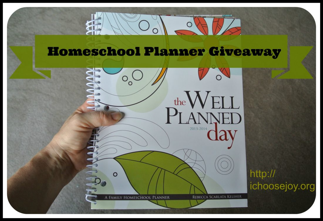 Review/Giveaway of The Well-Planned Day 2013-2014 Family Homeschool Planner