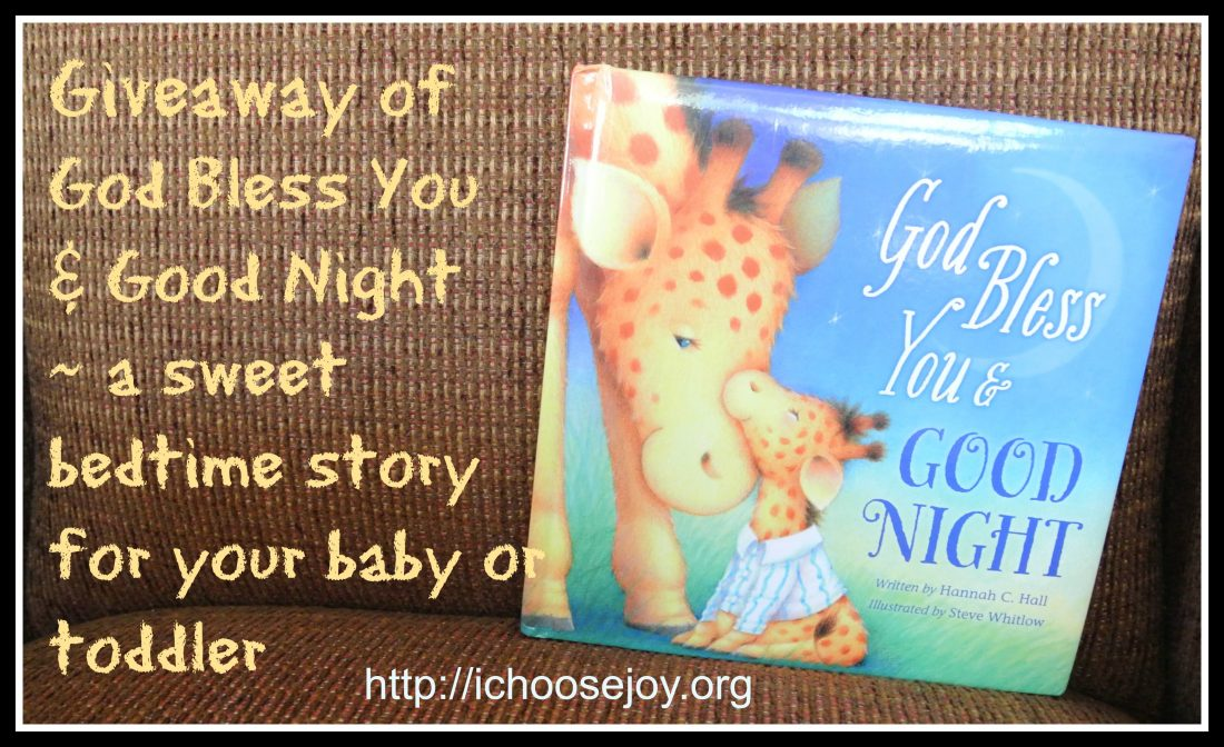 "Review/Giveaway of ""God Bless You & Good Night"" by Hannah C. Hall"