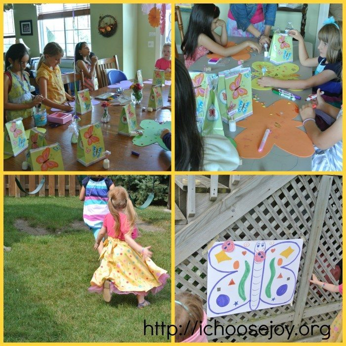 Tea Party Collage crafts and games