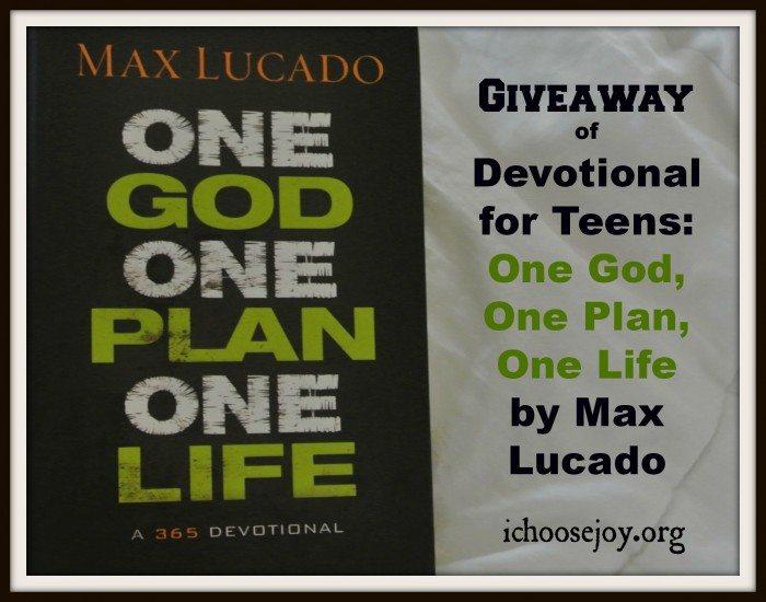 One God, One Plan, One Life Devotional