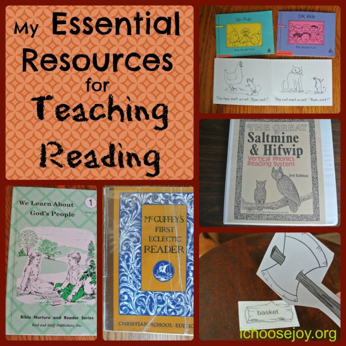 Homeschool Essentials for Teaching Reading