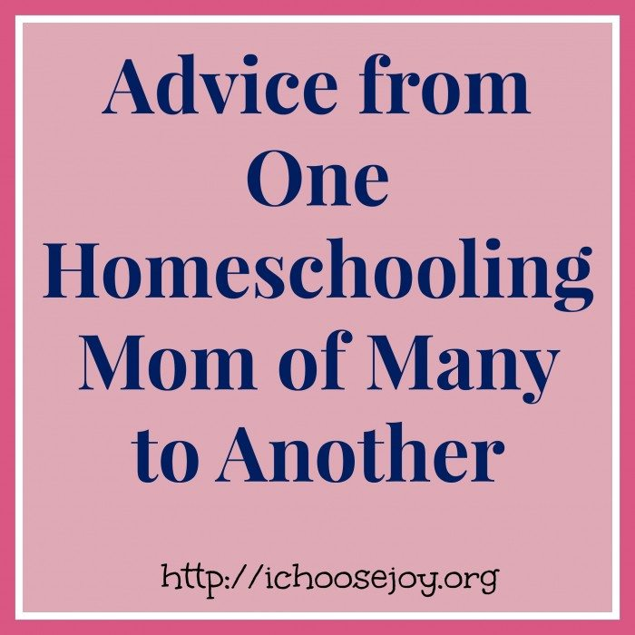 Advice from One Homeschooling Mom of Many to Another