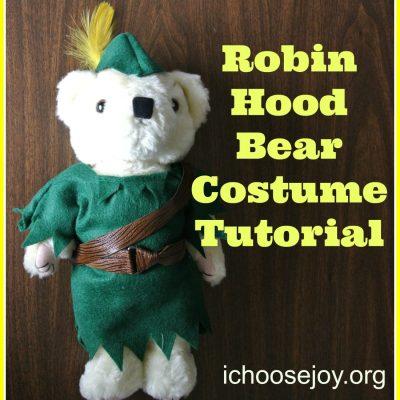 Tutorial: Robin Hood Costume for Stuffed Bear