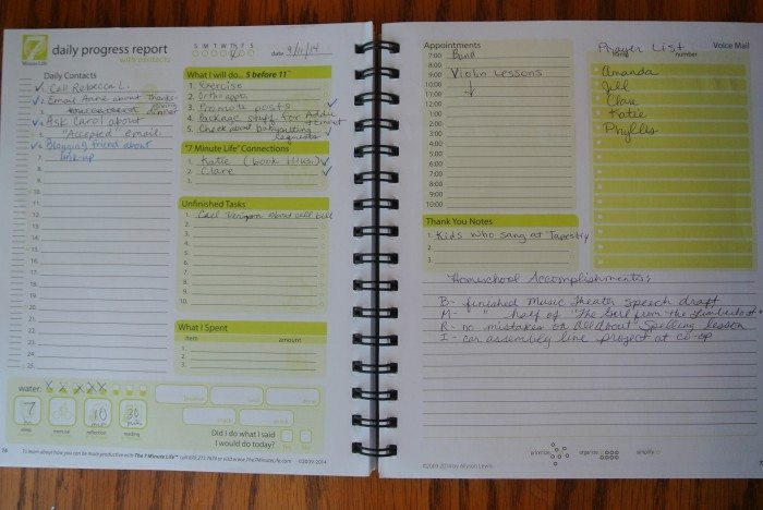 audition & 7 Minute Life Daily Planner 035