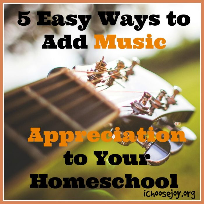 5 Easy Ways to Add Music Appreciation to Your Homeschool!