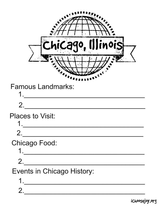 Chicago Illinois Printable
