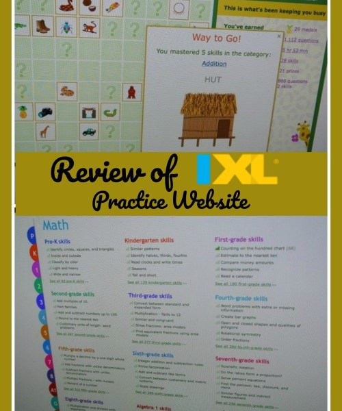 Review of IXL Website for math and language arts practice