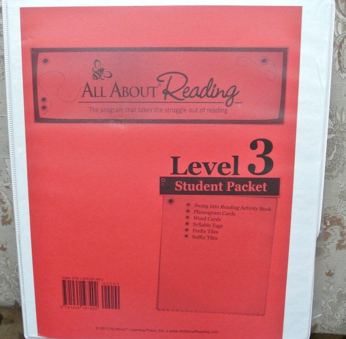 Set up Notebook for All About Reading and Spelling 001