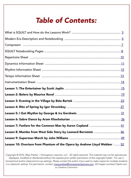 SQUILT Vol. 4 Contents