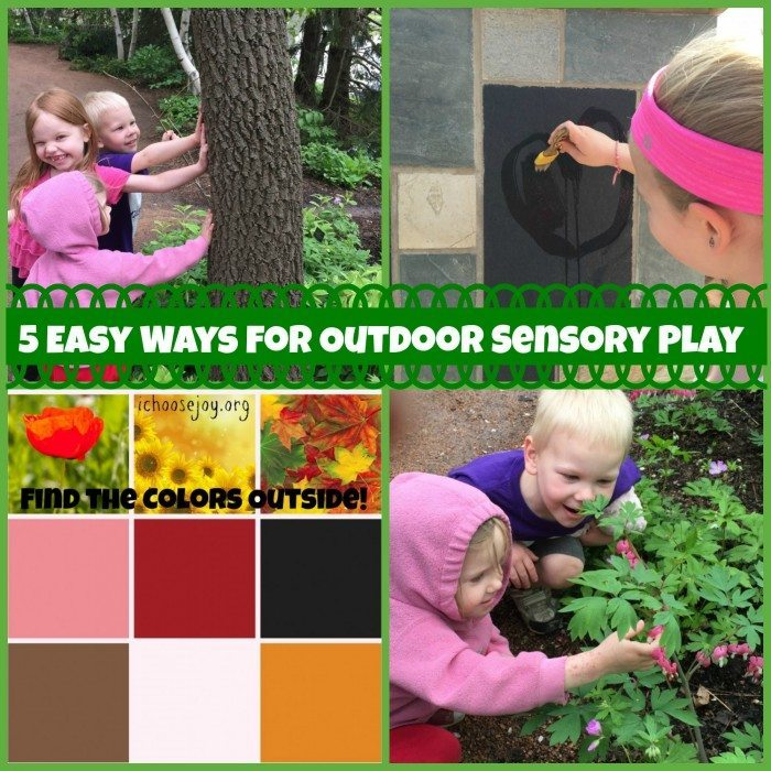 5 Easy Ways for Outdoor Sensory Play