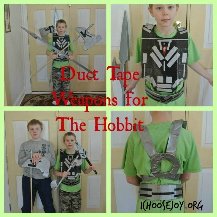 Duct Tape Weapons for boys