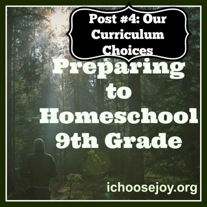 Preparing to Teach Ninth Grade-curriculum choices
