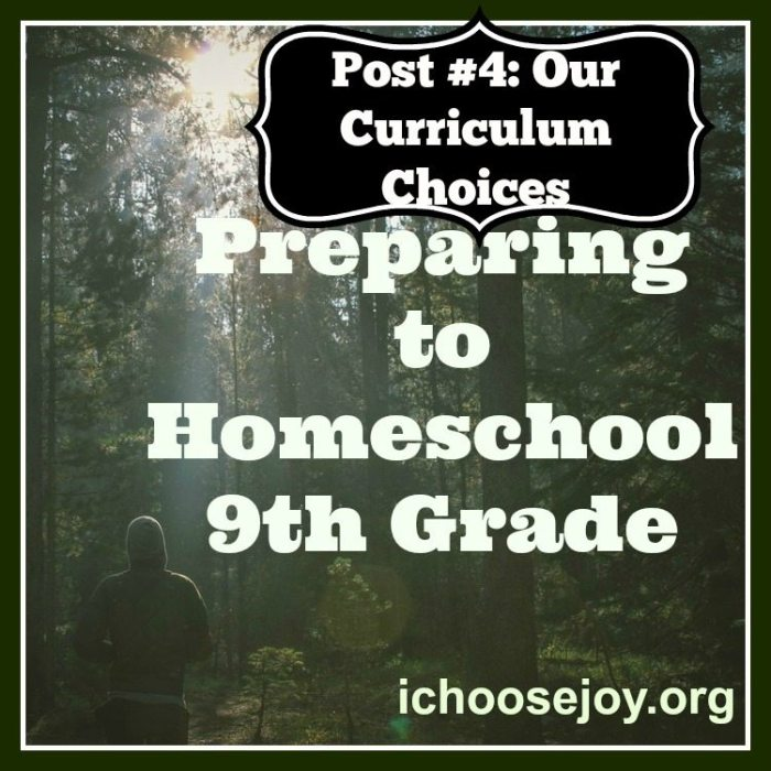Homeschool Ninth Grade- The Best Curriculum
