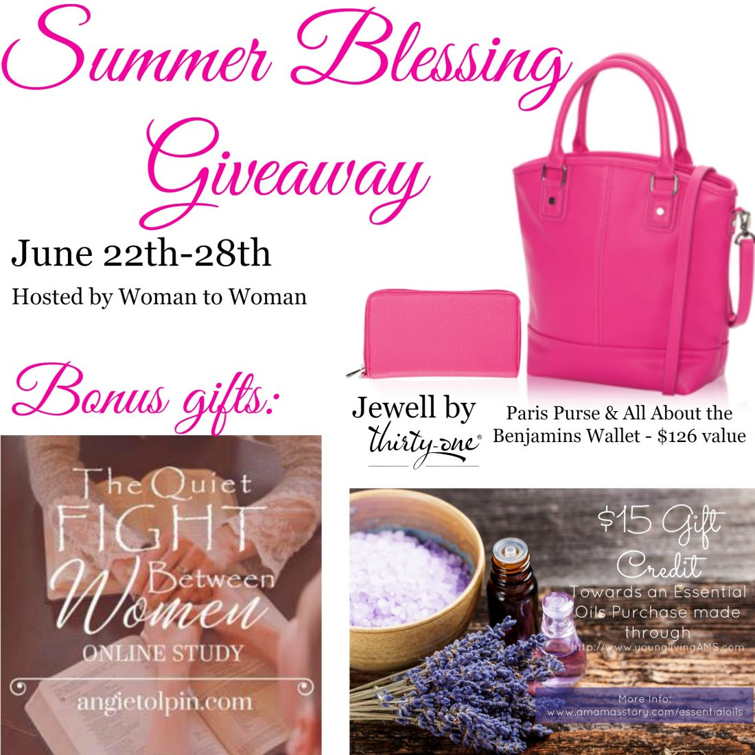 Summer Blessing Giveaway: 31 Gifts, Essential Oils, Bible Study!