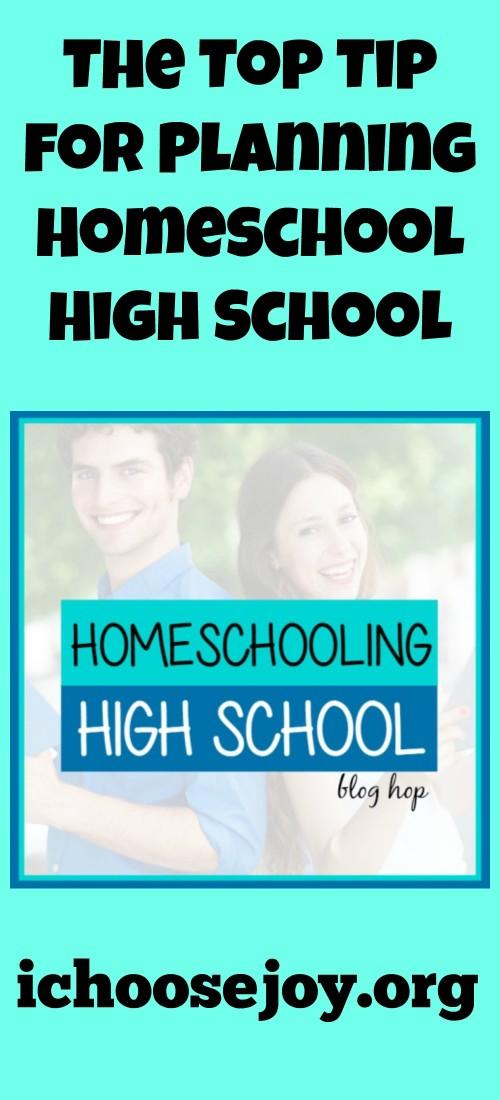 The Top Tip for Planning Homeschool High School