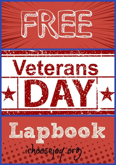 Free Veterans Day Lapbook, perfect for elementary students learning about Veterans Day #homeschool #veteransday #lapbook #elementary