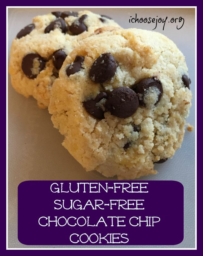 Gluten Free Sugar Free Chocolate Chip Cookies