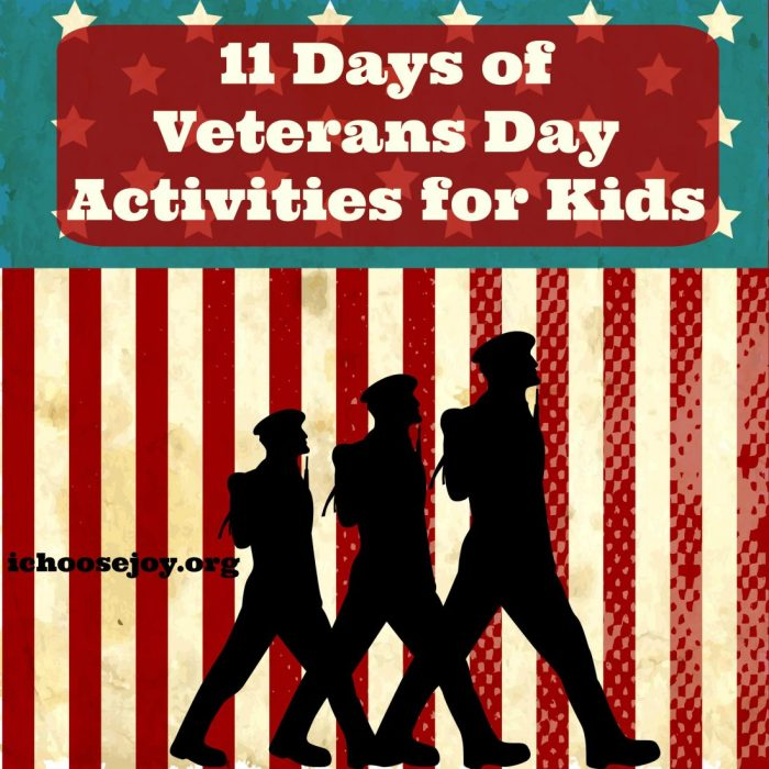 "Looking for some Veterans Day Activities? ""11 Days of Veterans Days Activities for Kids"" is a great way to teach your kids about Veterans Day. #VeteransDay #kidsactivities #Veterans #homeschooling #homeschoolresources"