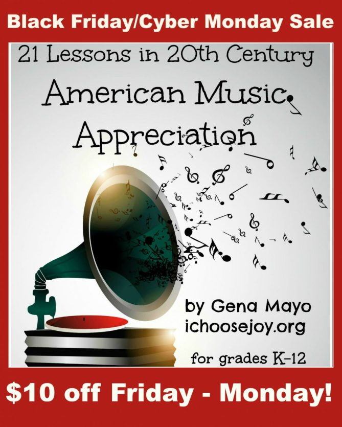 21 Lessons in 20th Century American Music Appreciation Black Friday/ Cyber Monday $10 off sale
