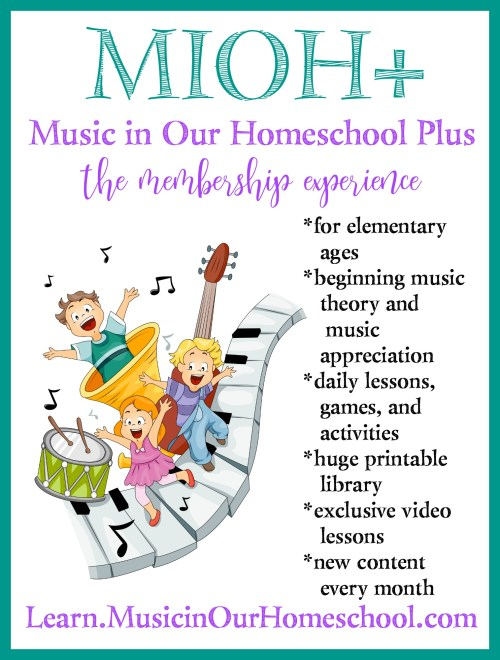 Music in Our Homeschool Plus membership is perfect for elementary students!