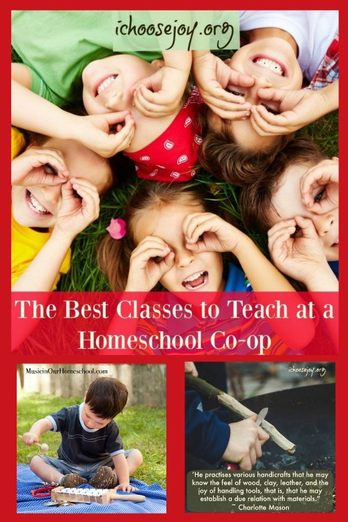 Find out the best classes to teach at a homeschool co-op #homeschool #homeschoolco-op #homeschoolmom #homeschoolideas